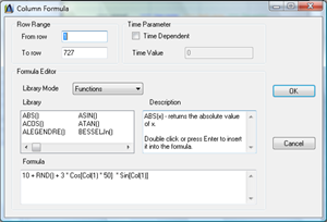 Column Formula Editor of DataScene, a Data Analysis Software